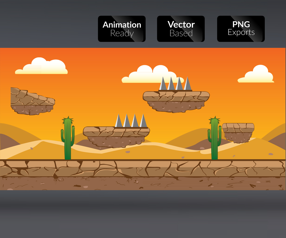 Desert Background game art royalty free level