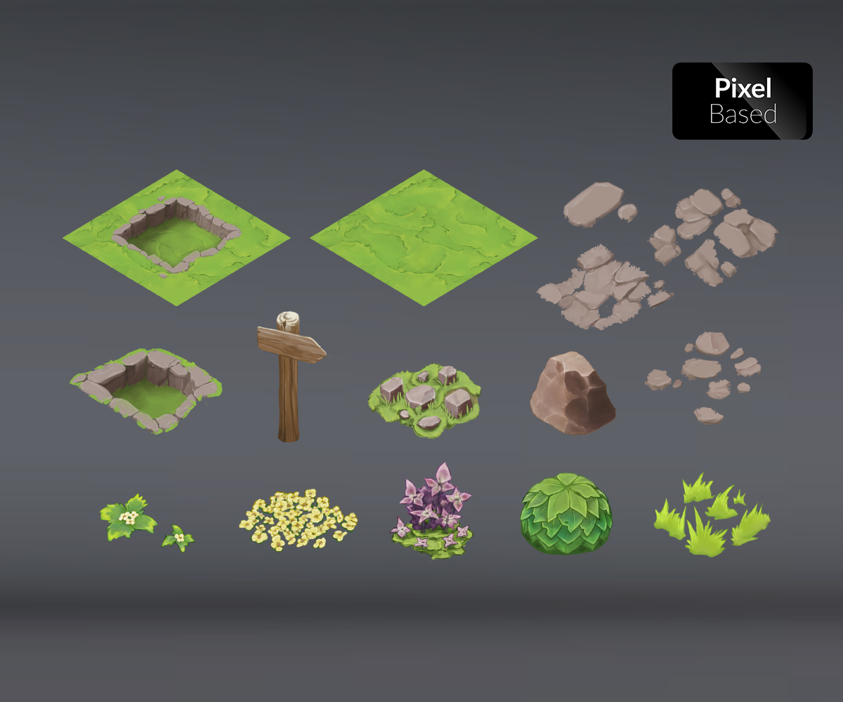 Isometric Game Art - Royalty Free Level Art