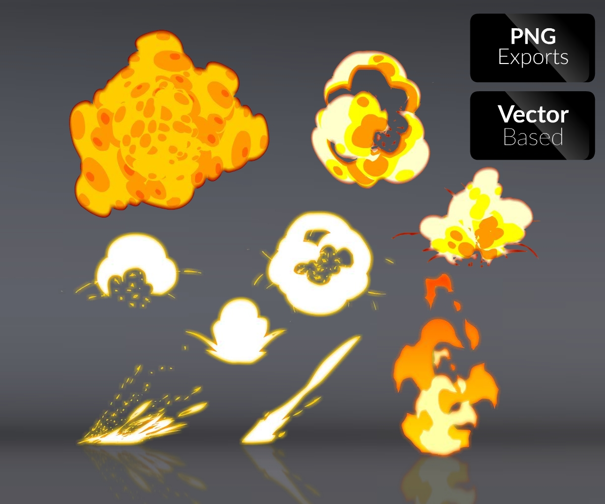2D Explosion Effects - Royalty Free Game Art