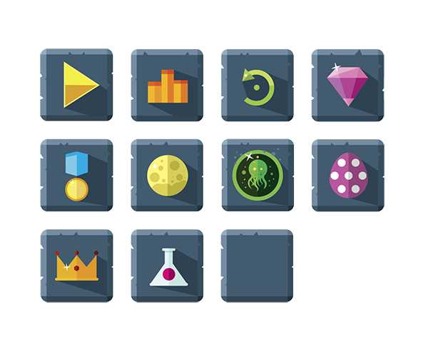 Featured Buttons Royalty Free Game Art