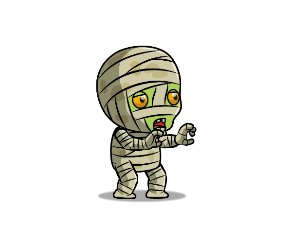 Tiny Mummy Royalty Free Game Art Thumbnail