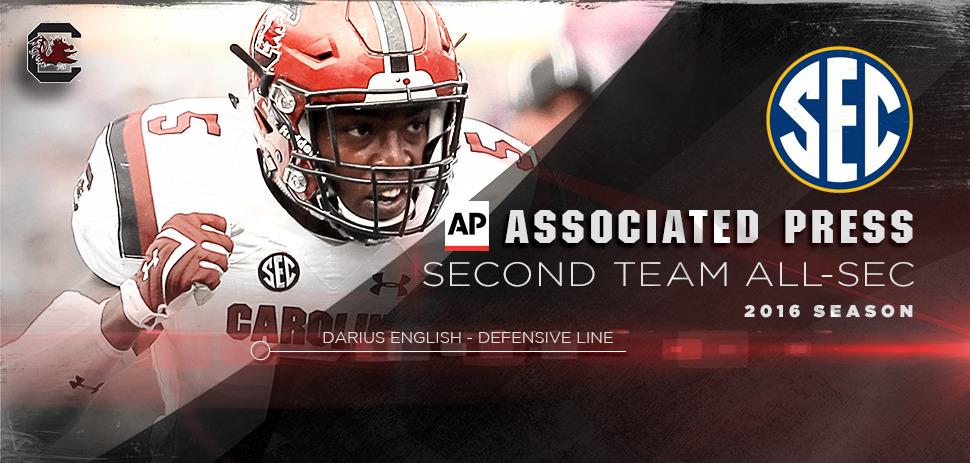 English Named To Ap All Sec Team University Of South Carolina