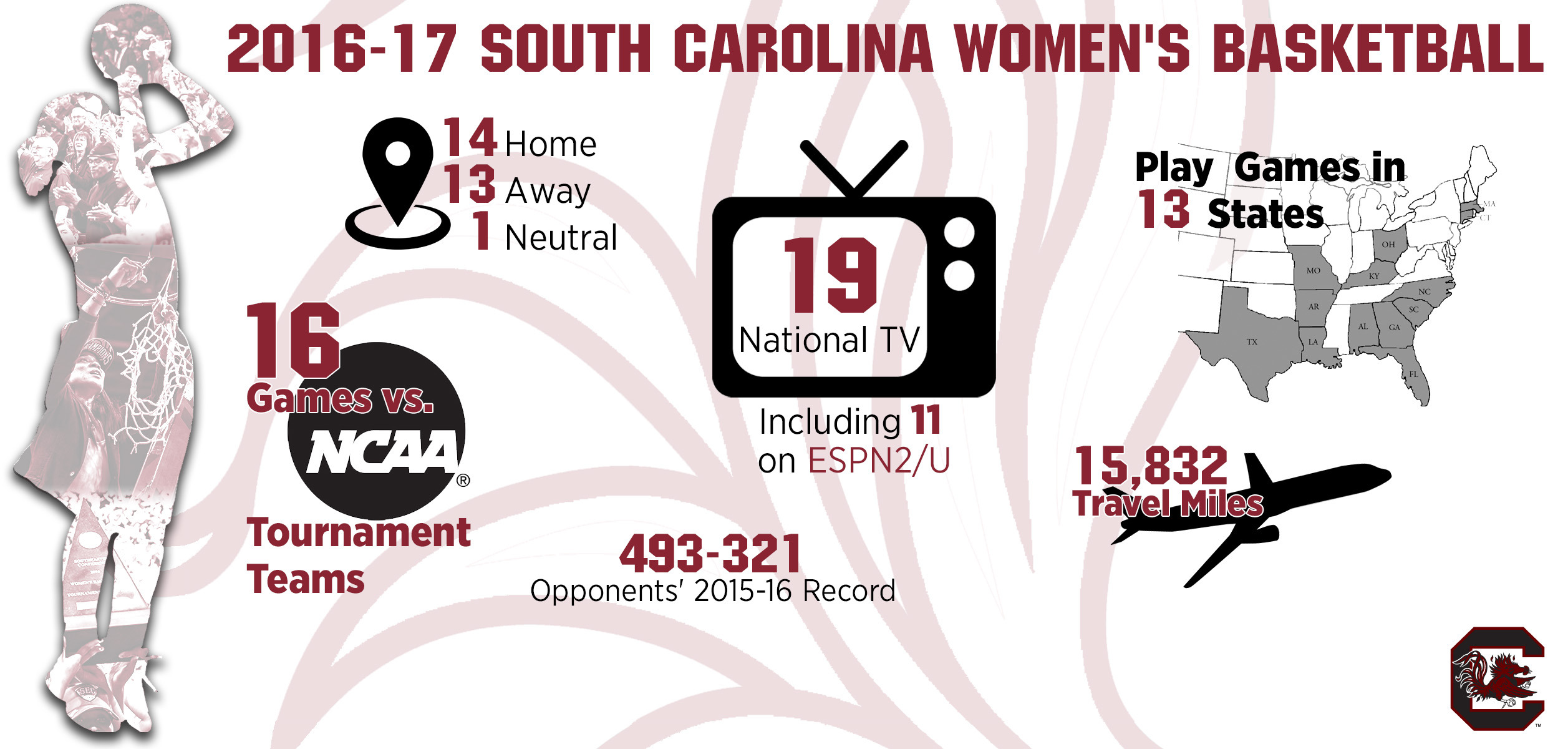 gamecock schedule features 19 national tv games - university of