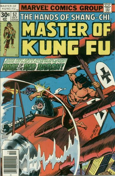 "I mean this one just raises a whole lot of questions. The Red Baron's time travel abilities are the first big red flags, but then immediately my mind goes to, ""Well how did the Master of Kung Fu get ON to the airplane?"" Like I get that he can do a flying kick but he can't literally do a flying kick."