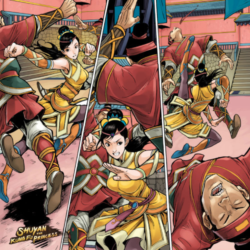 Preview comic panel from Shuyan the Kung Fu Princess for iOS