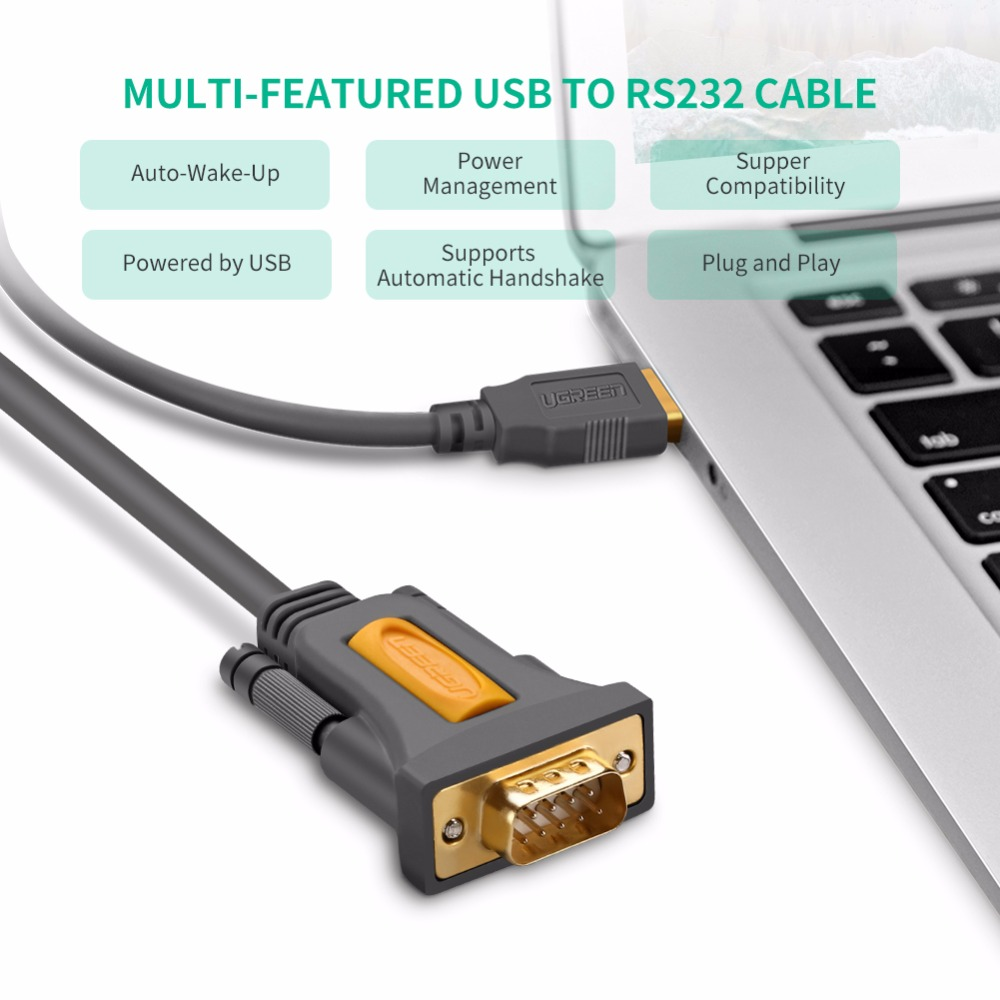 Ugreen Usb To Rs232 Com Port Serial Pin Cable Adapter Gamersctrl Db9m Schematic 6 Maximum Transfer Rate Up 1mbps 7 Supports Automatic Handshake 8 Powered By No External Power Required