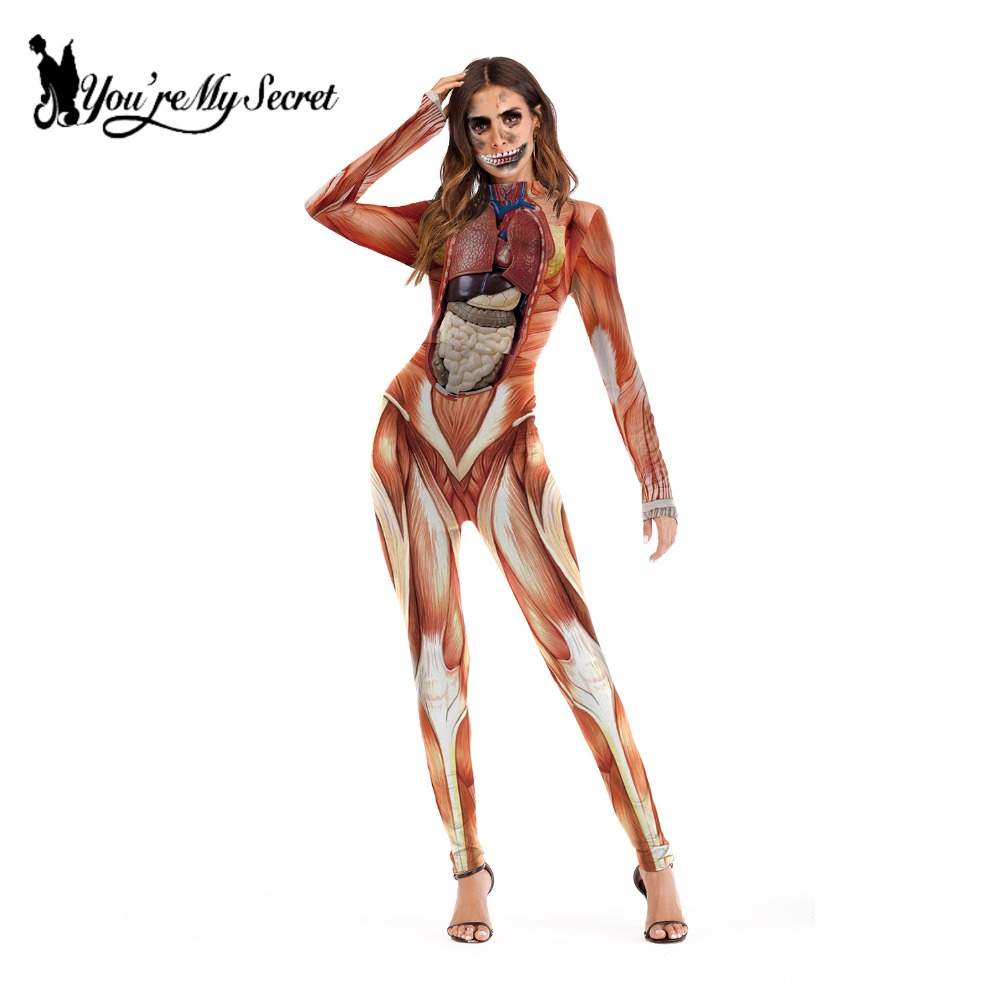 600c5b32386a Attack on Titan Scary Costume Muscle Print Catsuit | GamersCtrl