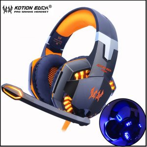 KOTION EACH Gaming Headset with LED light Microphone