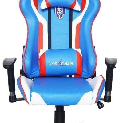 Red Blue White Gaming Racing Chair