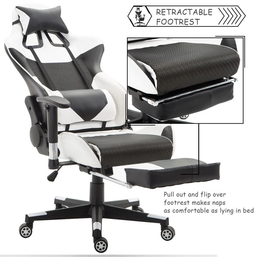 Strange Giantex Gaming Chair With Lumbar Support Gamersctrl Ocoug Best Dining Table And Chair Ideas Images Ocougorg