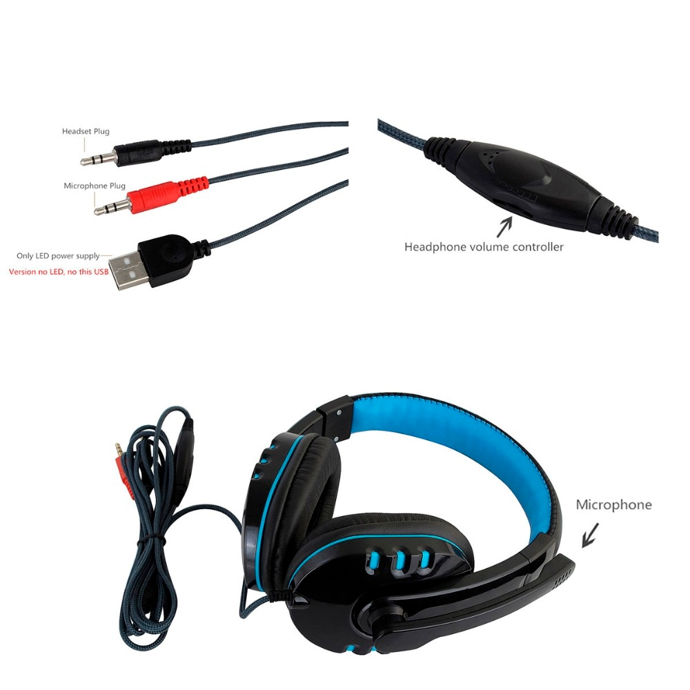 CH1 Computer Gaming Headset PS4 with Mic