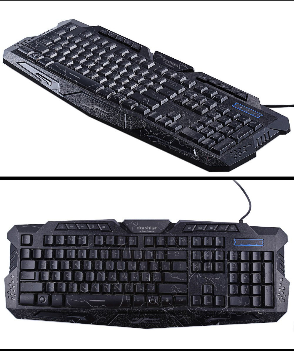 Crack Gaming Mouse 6 Buttons Breathing Light Colorful Mice Upgraded Version Russina Backlit Darshion LED Backlit Russian Keyboard Gaming