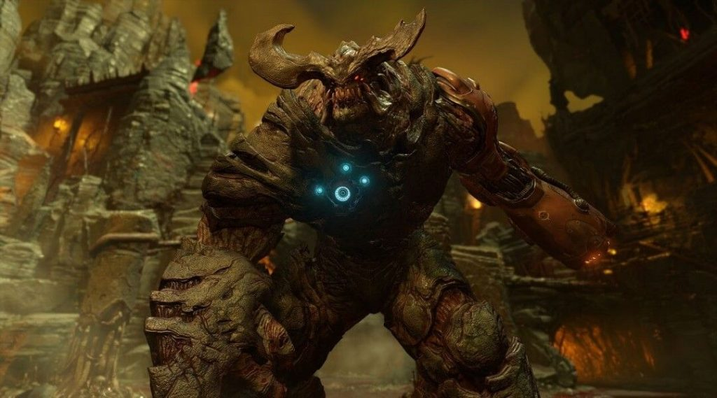 Taking on the Cyberdemon (Doom 2016) | The Top 10 Most Insane Video Game Set Pieces | Gammicks.com