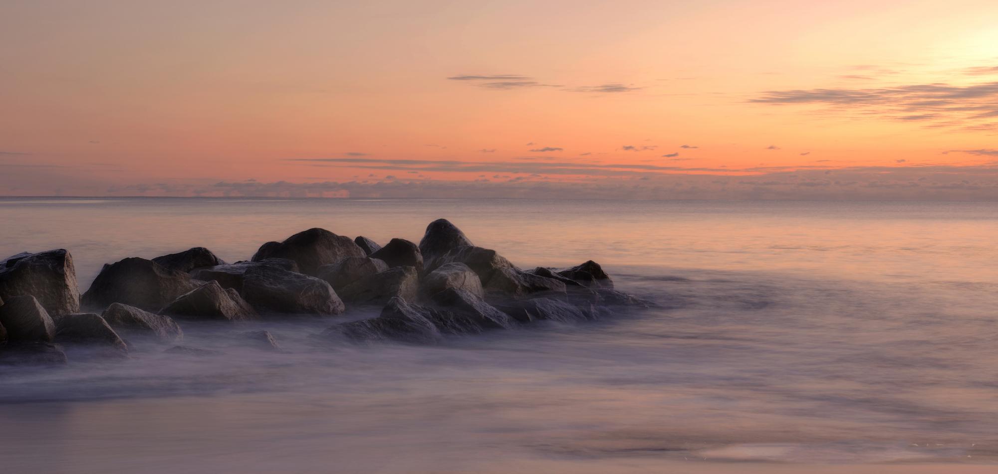 landscape photograph art seaside sunrise