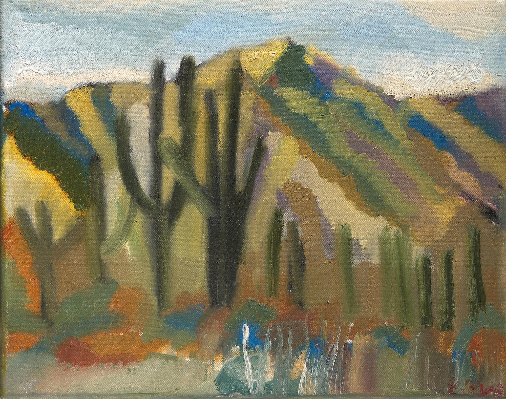 painting on canvas landscape segora palms