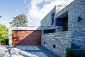 houten afrormosia garagedeur en voordeur