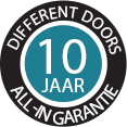 10 jaar garantie Different Doors