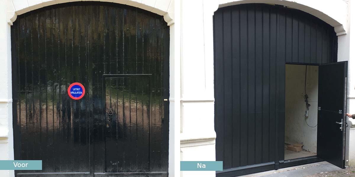 garagedeur-monumentaal-pand-utrecht-voor-na