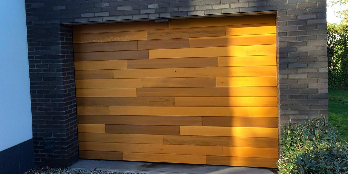 Red Cedar houten garagedeur
