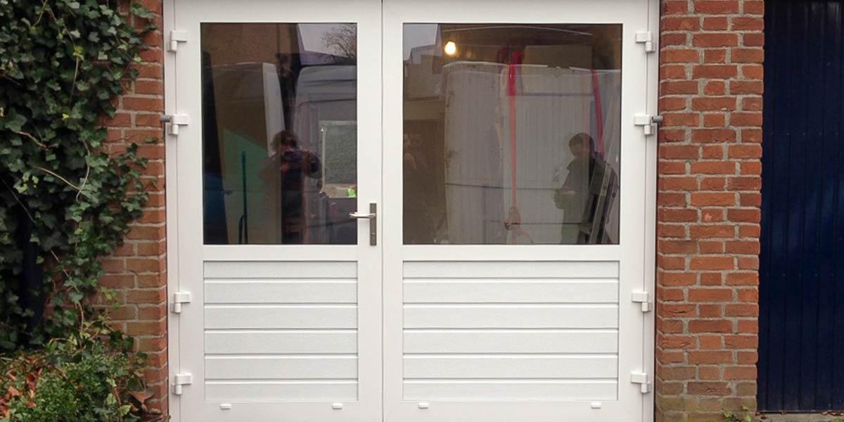 openslaande garagedeuren a-symmetrisch