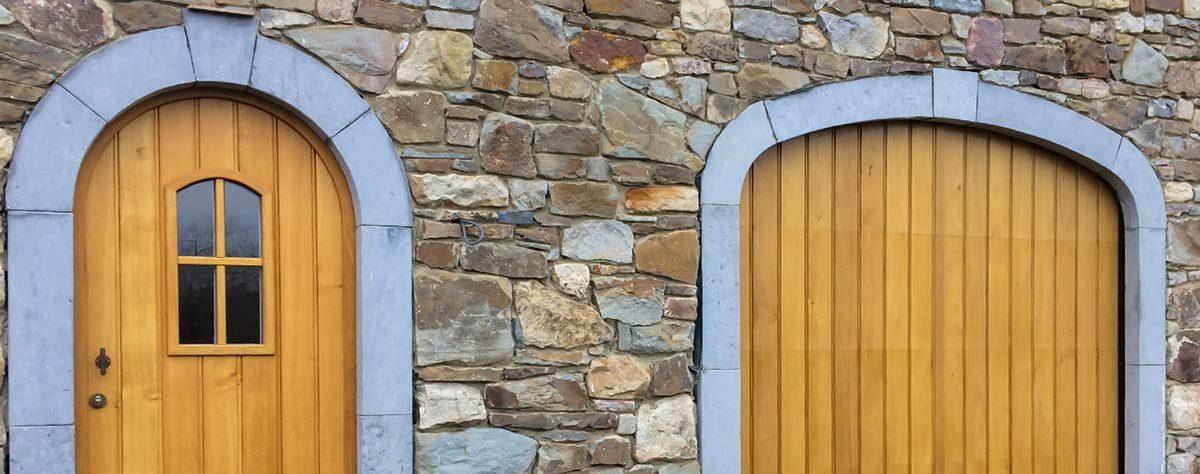 eiken garagdeur en voordeur