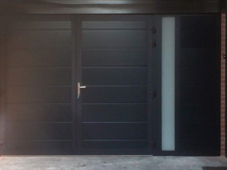 openslaande garagedeuren vast zijpaneel