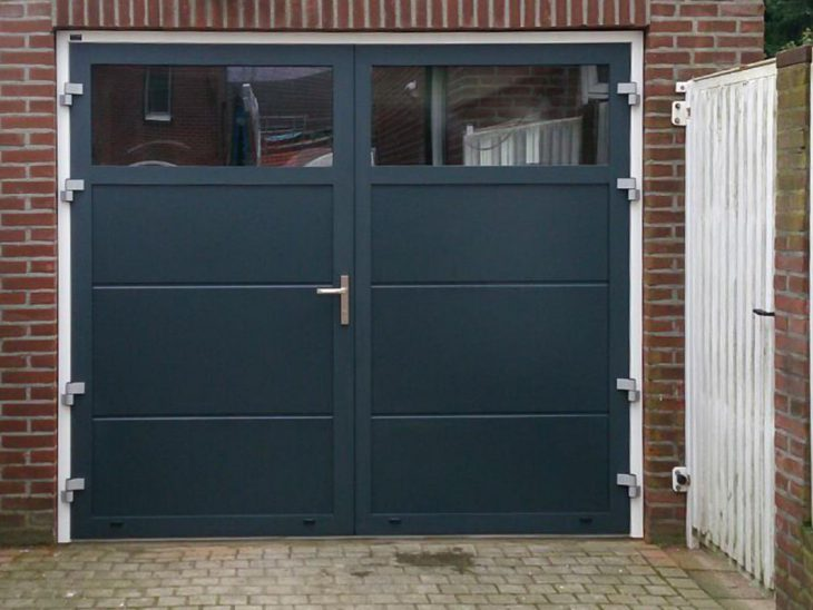 openslaande garagedeuren met HR++ glas