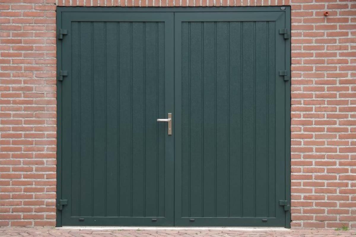 Openslaande deur geisoleerd groen