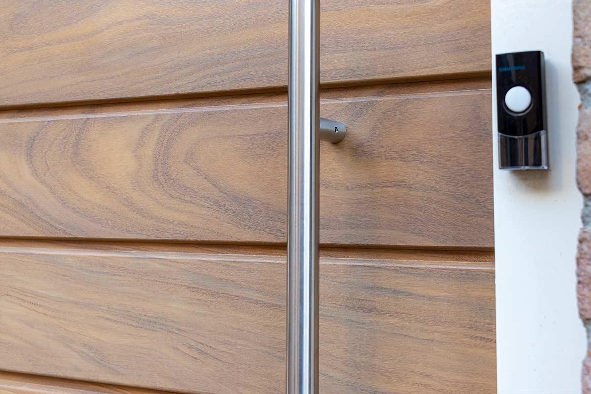 Voordeur van hout