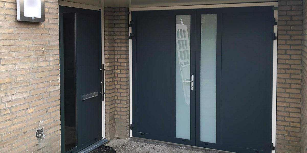 onderhoudsarme voordeur en garagedeur