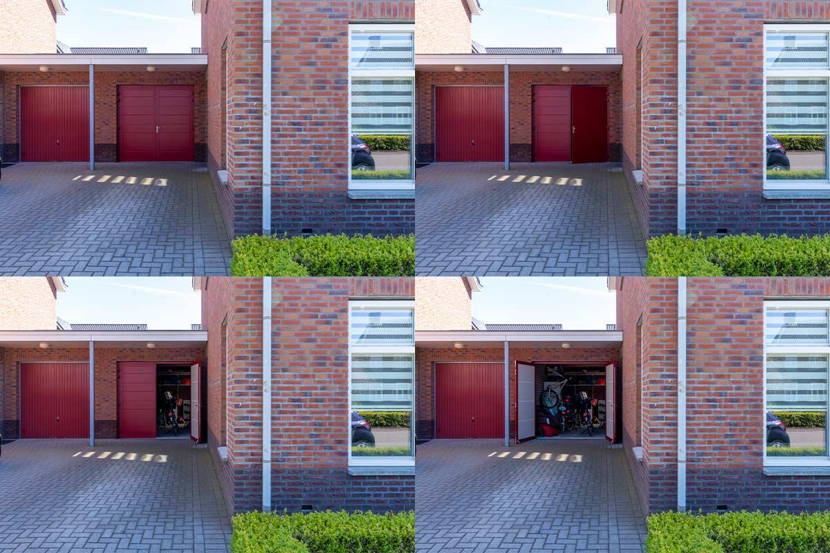 Rode-openslaande-garagedeur
