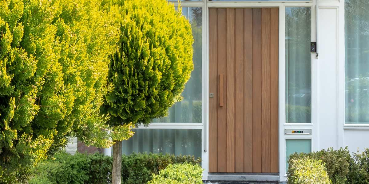 moderne voordeur hout