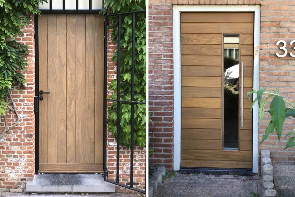 Massief houten voordeur