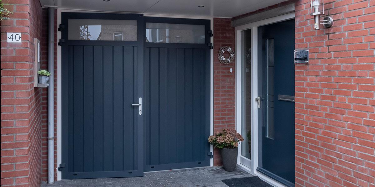 Onderhoudsarme openslaande garagedeuren