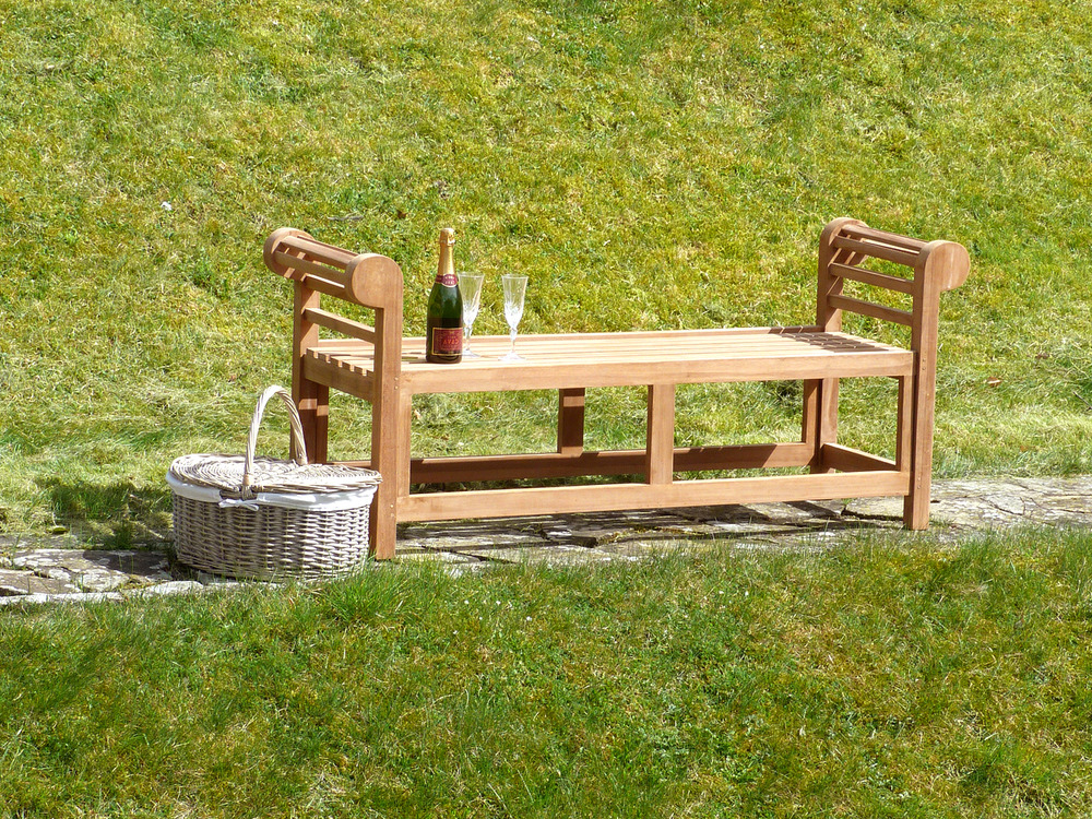 Lutyens Backless Teak Bench 150cm | Backless Marlborough ...