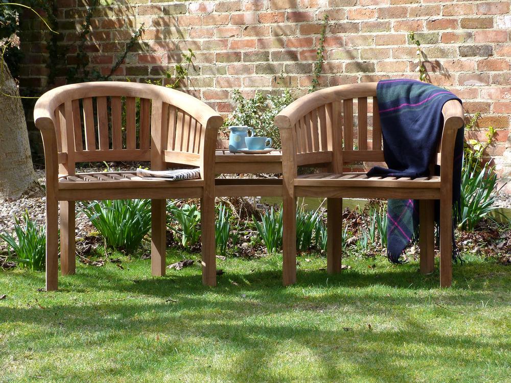 Banana Halfmoon Couples Bench Set