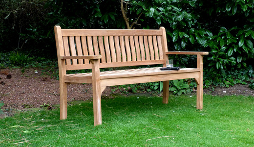 Westminster Flat Arm Teak Bench 150cm Flat Arm Teak