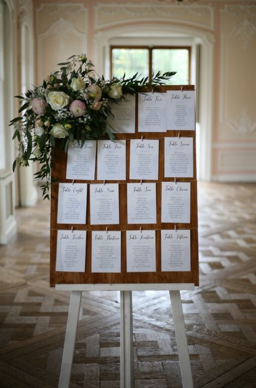 Floral Table Plan Decoration