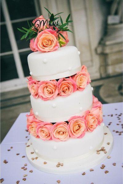 Pink Peach Cake Flowers