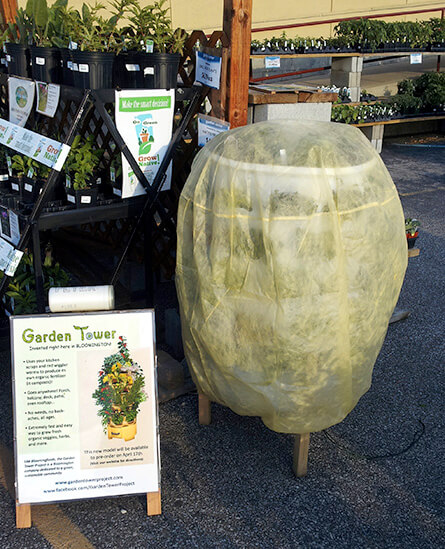 Hooded Garden Tower Frost Protection