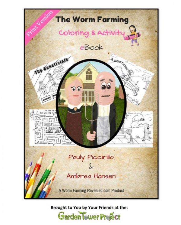Worm Farming Coloring & Activity eBook
