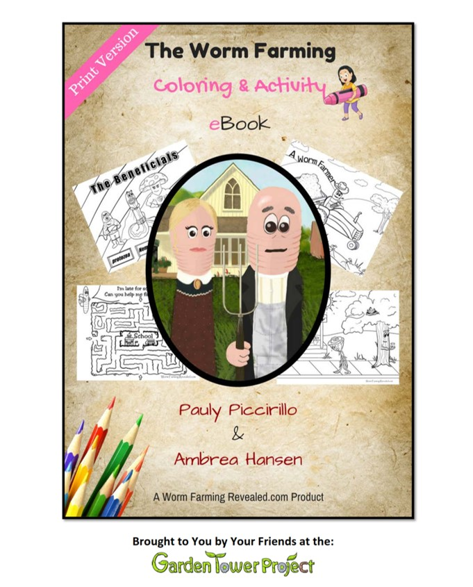 Worm Farming Coloring Activity EBook