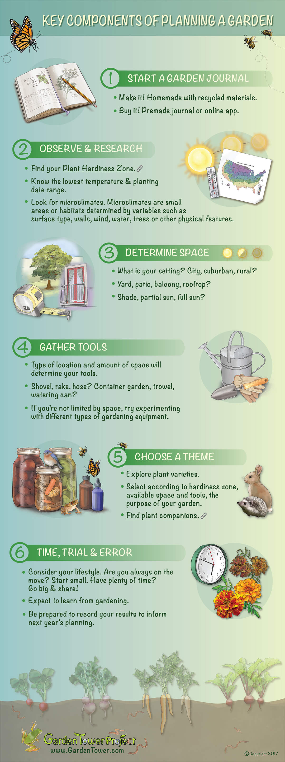 Planning a Garden Infographic Guide and Diagram