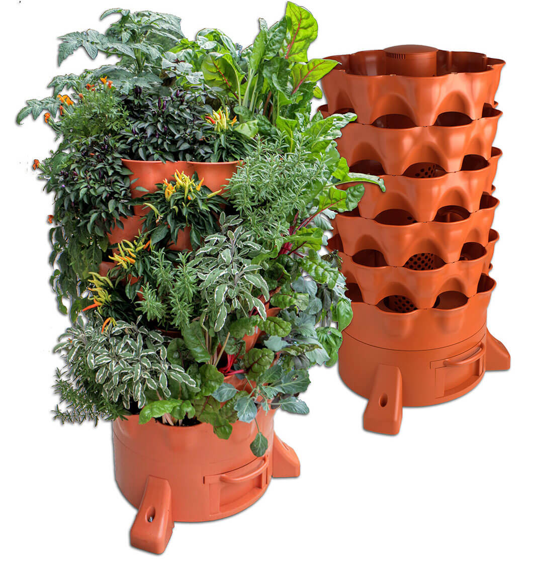Garden Tower 2 50 Plant Composting Container Garden