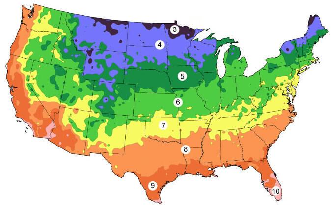 Garden Zones Map