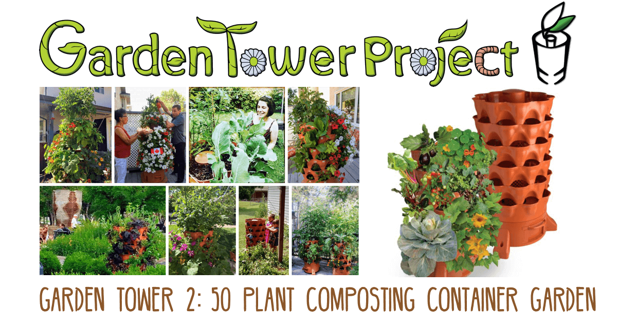 GARDEN TOWER 2 Vertical Container Garden ,Award Winning, System
