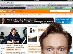 Conan O'Brien Buys Mashable