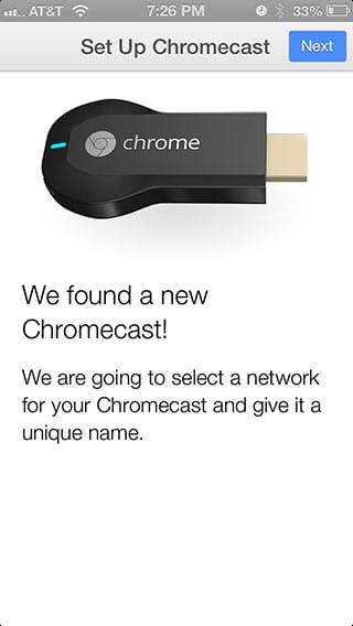 Chromecast - iPhone Found