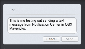 Notification Center - iMessage