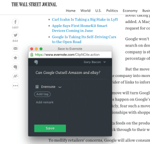 Wall Street Journal & Evernote